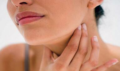 Дискомфорт в шее из-за лимфоузлов